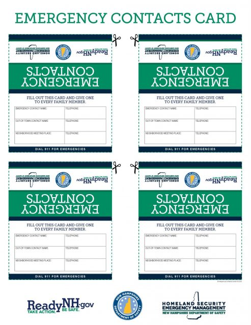Emergency Contacts Cards